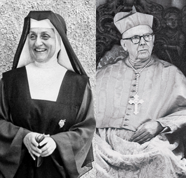 Left: Caspary, before Vatican II. Right: McIntyre, in 1964. Photographs (from left): Courtesy of IHM Community Archives, Los Angeles, CA; Time & Life Pictures/Getty Images