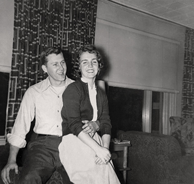 Dwight Thompson and Cleora Barnes in 1953, the year he left for Korea. Photograph: Courtesy of Susan Thompson