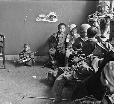 Boys awaiting transfer to a South Korean orphanage in 1951. Photograph: Michael Rougier / Time Life Pictures / Getty Images