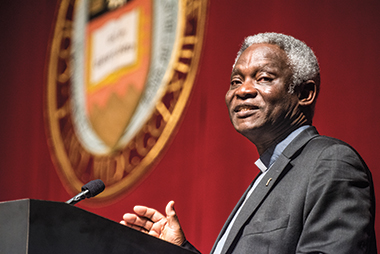 "Cardinal Turkson: Laudato Si' ""is not an encyclical on climate change"" but a ""social encyclical—about the well-being of the Earth, and of the human person."" Photograph: Lee Pellegrini"