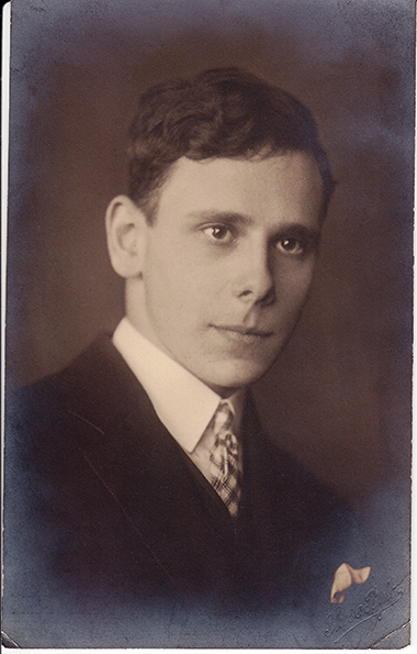 Edgar Bodenheimer, age 18, in 1926. Photograph: Courtesy of Rosemarie Bodenheimer