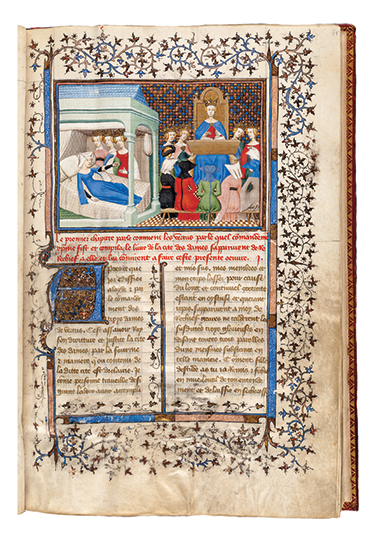 Page from the first conduct manual for women by a woman (circa 1405). Photograph: Boston Public Library. Click image to enlarge.