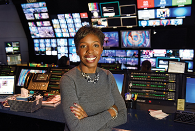 Carter, in The View's control room. Photograph: Ida Mae Astute / ABC