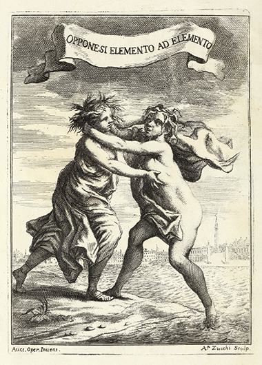 An element opposes another element, engraving by Venetian-born Andrea Zucchi (1679–1740). Image: Getty Research Institute, Los Angeles (1379-080)