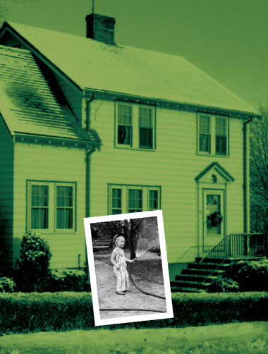 The author as a boy, and his first home. Photographs: Courtesy of Paul Doherty