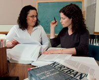 The BCIAP's Tara Slepkow (left) and Michelle Limaj, also a second-year law student. Photograph: Gary Wayne Gilbert