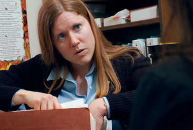 Mary Holper, JD'03, staff attorney for the BCIAP. Photograph: Gary Wayne Gilbert
