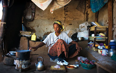 A friend of the author, in her Kakuma home. Photograph: J. Carrier