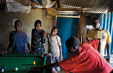 The Ethiopian community pool hall. Photograph: J. Carrier