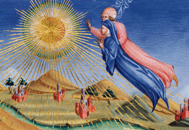 Dante and Beatrice ascending. Painting: HIP/Art Resource, NY