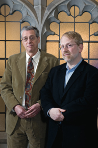 From left, Edward Kaplan and Jacob Meskin