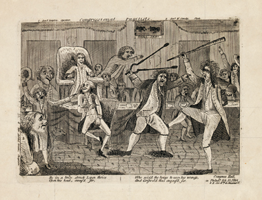 The tangled creation of historical fact—a scene from Congress, 1798, Philadelphia. Image: Library of Congress