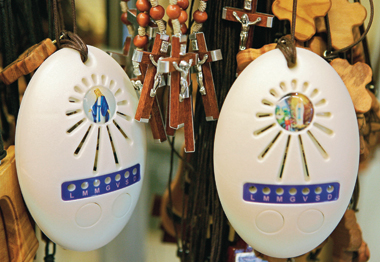 Digital rosaries for sale in Vatican City in 2007. Photograph: AFP/Getty Images