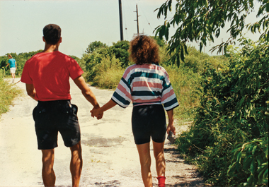Near his newfound step-grandmother's home in Tuckerton, New Jersey, the author walks with his older sister (by three years), on the day they met.