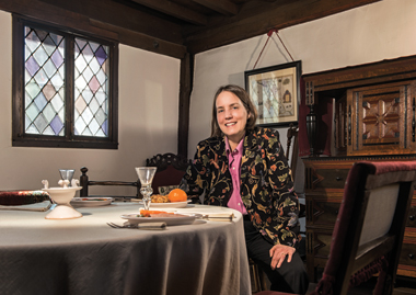 Zannieri, in Paul Revere's dining room. Photograph: Gary Wayne Gilbert