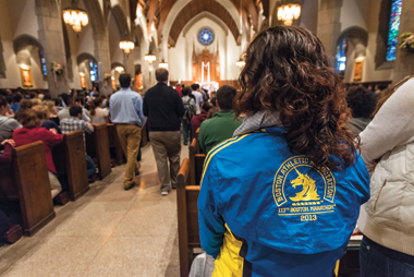 Mass for Healing and Hope in St. Ignatius Church, Tuesday April 16. Photograph: Lee Pellegrini