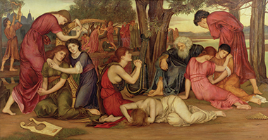 By the Waters of Babylon, Evelyn De Morgan, oil on canvas (1882–83). Image: Courtesy and copyright of the De Morgan Centre, London / the Bridgeman Art Library