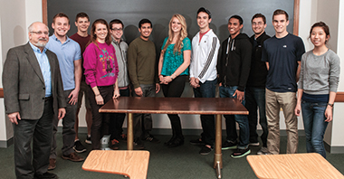 Makransky with the seniors of TH506, in Devlin 117. Click image to enlarge.