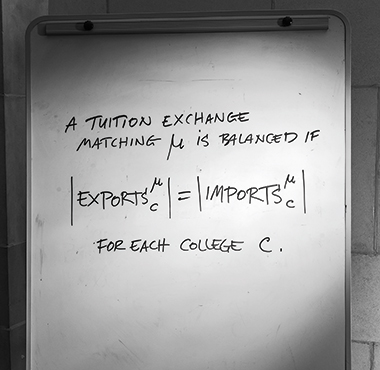 From a 2013 paper on tuition exchanges for faculty dependents, coauthored by Ünver. Photograph: Gary Wayne Gilbert
