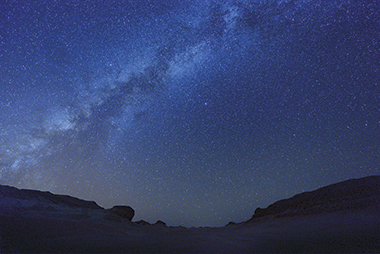 The Milky Way over the desert in northwest Egypt. Photograph: Corbis Images