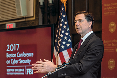 Comey: We need to build trust between the government and the private sector. Image: Lee Pellegrini