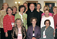 With reunioning Newton College alumnae, at Alumni House. Photograph: Nicole Pellegrino