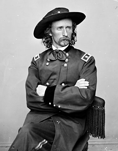 George Armstrong Custer, photographed between 1860 and 1865. Photograph: Library of Congress