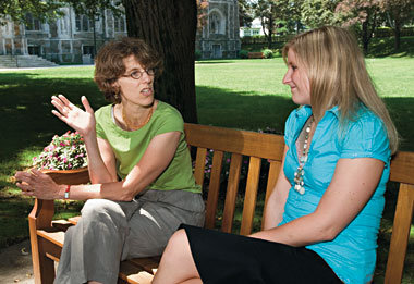 Sociology Professor Juliet Schor and Maggie Ford '07