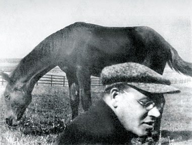 Isaac Babel at 37, in Molodenovo, Russia (1931)
