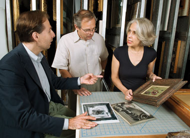 From left, Boston College's Claude Cernuschi, Andrzej Hercynski, and Nancy Netzer. Photograph: Gary Wayne Gilbert