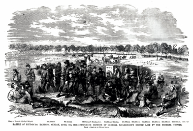 The same scene as it appeared in Leslie's, seven weeks later. From The Soldier in Our Civil War (1893), by Frank Leslie