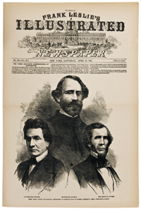 The front page of April 13, 1861. It shows Southern leaders sent to negotiate the amicable separation of the States.
