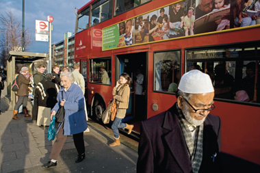A scene in the Tower Hamlets borough of London, March 19, 2008. Photograph: Gideon Mendel/Corbis