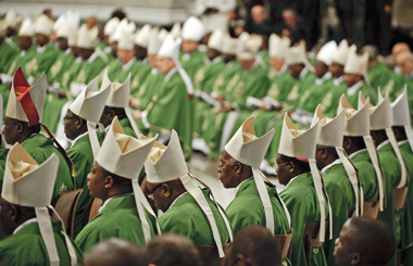 African bishops and cardinals attend Mass at the conclusion of their synod in Rome, October 25, 2009. Photograph: Vincenzo Pinto/AFP/Getty Images