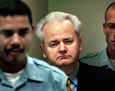 Slobodan Milosevic, before an appearance in front of the International Criminal Tribunal for the former Yugoslavia, December 11, 2001. Photograph: Reuters/Corbis