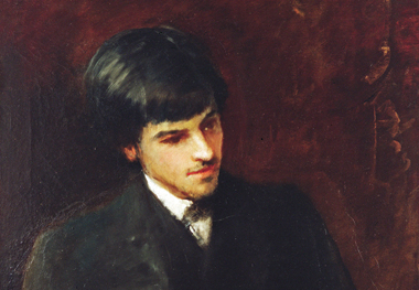W.B. Yeats at 20, in a portrait painted by his father, John Butler Yeats. Painting: Dublin City Gallery, The Hugh Lane, Ireland/The Bridgeman Art Library