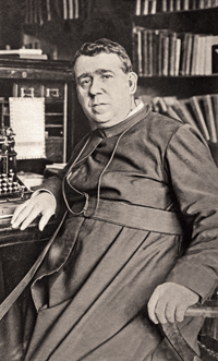 Thomas Gasson, SJ, in 1906, the year before he became President of Boston College. Photograph: Courtesy John J. Burns Library