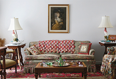 Betty's living room in Paris, Missouri, photographed on February 20, 2015. Photograph: Tim Tai. Click image to enlarge.