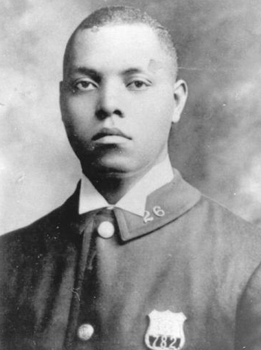 Samuel J. Battle, the NYPD's first black police officer, in 1911. Photograph: The New York City Police Museum
