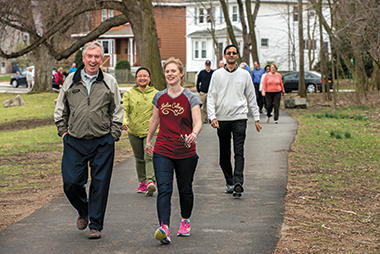 The spring WAC began on April 1 with a group walk around Brighton's Chandler Pond. Photograph: Lee Pellegrini