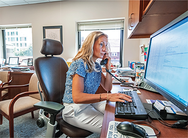 Parsons in her Montefiore office on July 13.