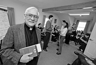 Howard Gray, SJ, at Rahner House in 1999, when he led the Center for Ignatian Spirituality. Image: Gary Wayne Gilbert