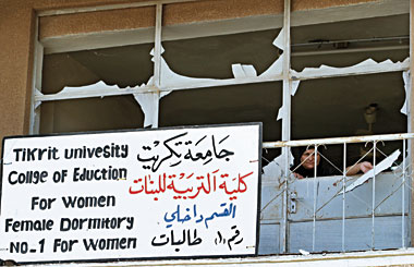 Tikrit University dormitory, September 6, 2004. photograph: Namir Noor-Eldeen/Reuters/Corbis