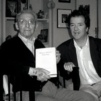 With philosopher Paul Ricoeur, 2005. Photograph: Courtesy of Richard Kearney