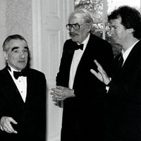 With Hollywood's Martin Scorsese and Gregory Peck, 1997. Photograph: Courtesy of Richard Kearney