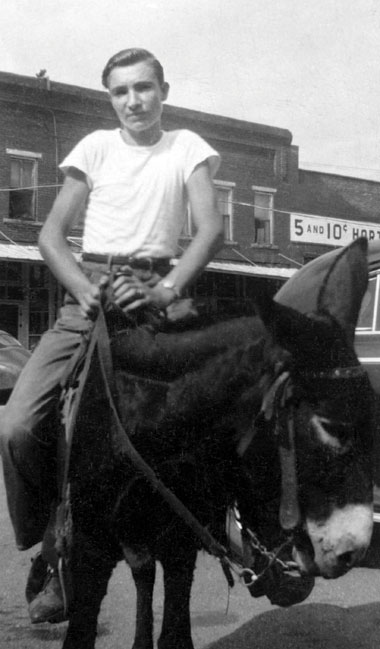 The author's father as a teenager in Oklahoma