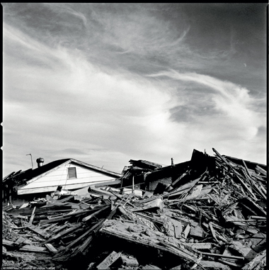 Lower ninth ward, New Orleans, three months after Katrina