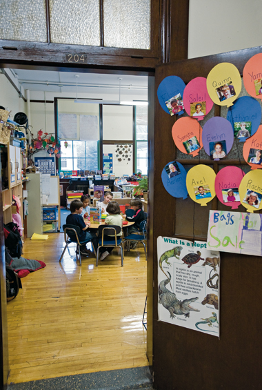 A classroom in Boston's Mission Hill School