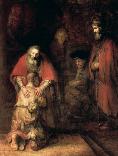The Return of the Prodigal Son, by Rembrandt Harmensz van Rijn, c. 1668. Image: The Gallery Collection/Corbis