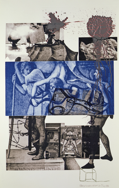 Robert Rauschenberg's Bellini 3 (1989). Photograph: Art © Estate of Robert Rauschenberg/Licensed by VAGA, New York, NY